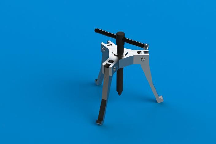 Bearing Puller Cad : Bearing puller mini project solidworks d cad model
