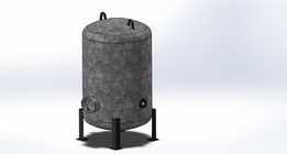 Vertical Air Receiver Tank 2000 Ltrs.SLDPRT