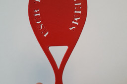 Porte-clefs jeton de caddie spécial tennis