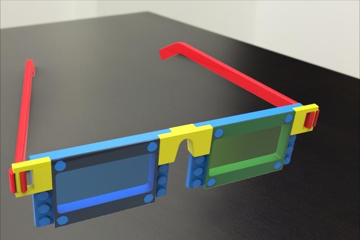 Lego Style Glasses