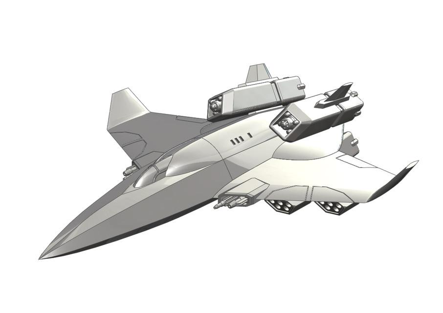 Centurion Heavy Fighter Wing Commander Privateer 3d Cad Model