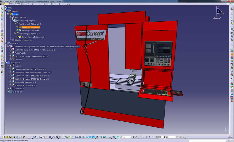 EMCO CONCEPT MILL 450 CNC Milling center | 3D CAD Model Library