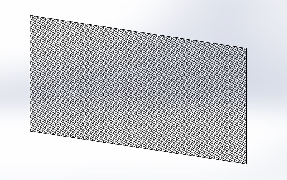 4x8 Sheet of Flat Expanded Metal Mesh | 3D CAD Model Library | GrabCAD