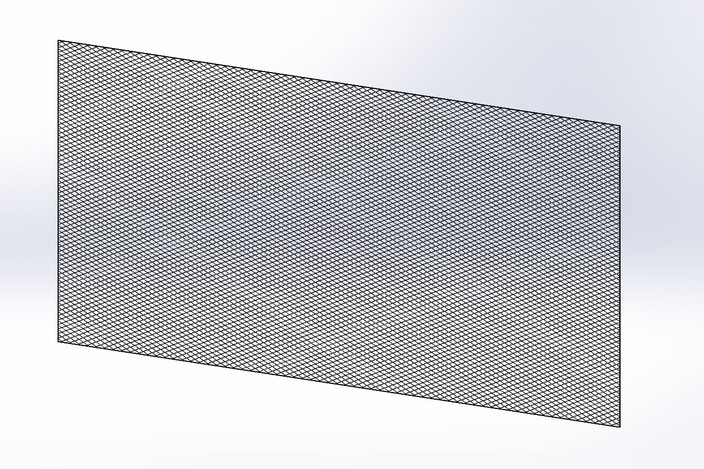 4x8 Sheet Of Flat Expanded Metal Mesh Solidworks 3d