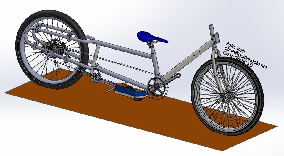 Verrassend Cargo Bike for Short People - FIXED DOWNLOAD ERROR | 3D CAD Model ZP-92
