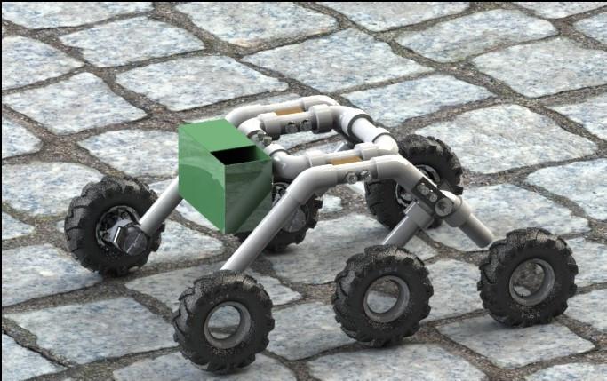 Rocker bogie Robot | 3D CAD Mo...