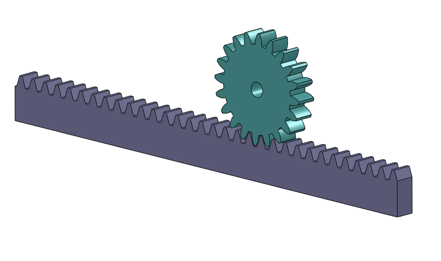 A Simple Rack And Pinion Step Iges Stl Catia Solidworks Cad Model Grabcad