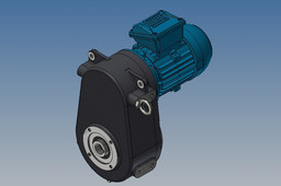 Gearbox with motor