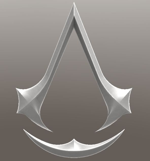 Assassins Creed Symbol 3d Cad Model Library Grabcad