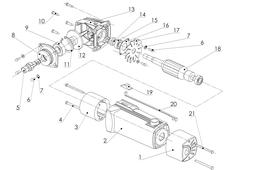Angle grinder CAD model