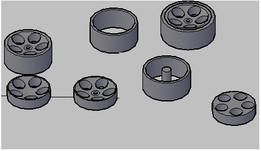 1/10 Hot Rod wheel for RC car