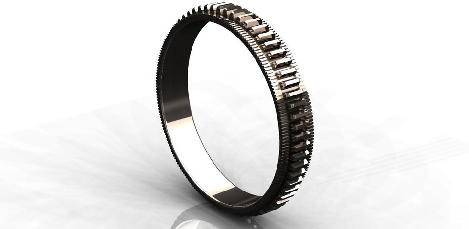 gear wedding ring step iges 3d cad model grabcad - Gear Wedding Ring