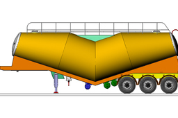 CEMENT BULKIER -BANANA TYPE SEMI-TRAILER
