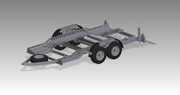 Trailer to transport Land Rover Defender 90