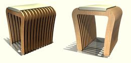 Wooden stool modern ideas concept