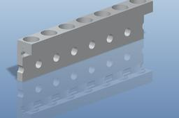 Dzus Rail used in Aerospace for mounting components