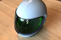 Helmet for motorbike.