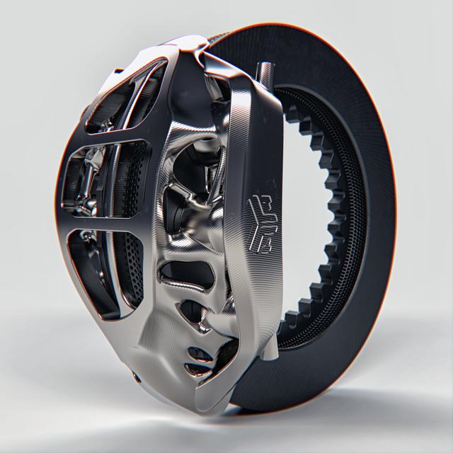 Generative Design F1 Brake caliper   3D CAD Model Library   GrabCAD