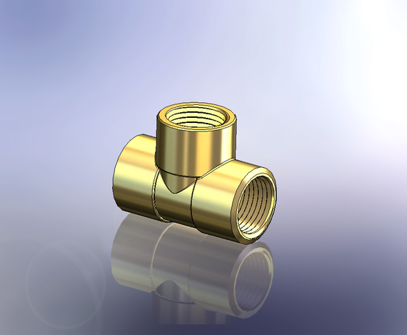 "Tee 1/2""BSP Female Brass"