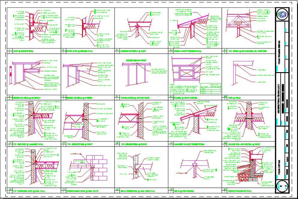 wood framing details autocad 3d cad model grabcad - Wood Framing Details