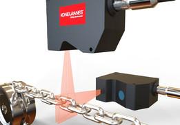 Laser chain wear indicator
