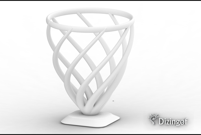 Fire Vase - Math Art by @Dizingof