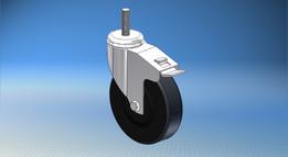 Bosch Rexroth Locking Caster - 125mm Heavy Duty