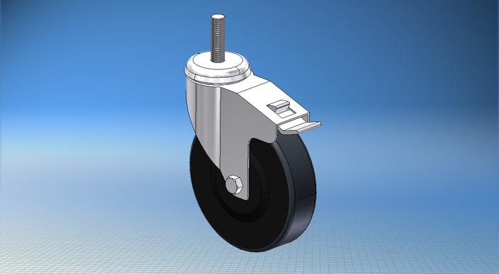 Bosch Rexroth Locking Caster 125mm Heavy Duty