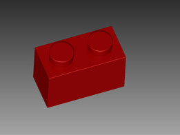 LEGO 1x2 normal red
