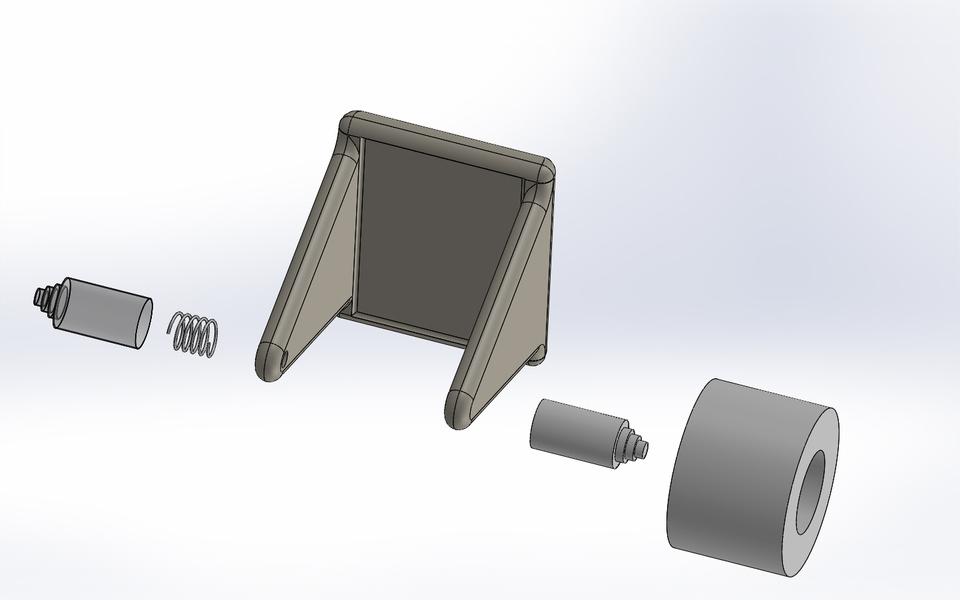 toilet paper holder - SOLIDWORKS - 3D CAD model - GrabCAD