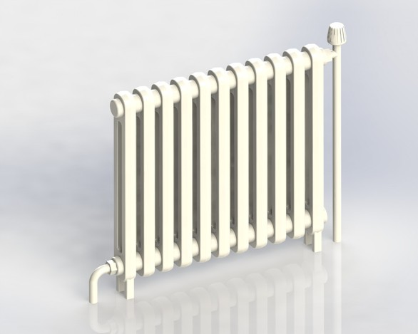 Radiateur Fonte 5 Step Iges Solidworks 3d Cad Model Grabcad