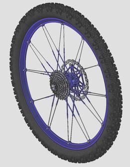 Rear wheel Crankbrothers Iodine