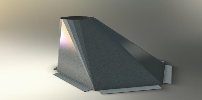 Sheet Metal Chute : Sheet metal chute hopper