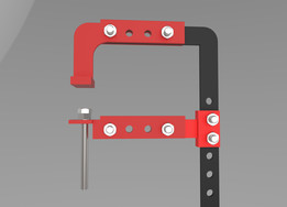 Adjustable DIY c-clamp for Wood working 1000mm x 300mm