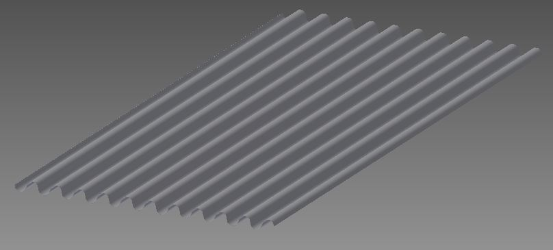 Corrugated Iron Sheet 3d Cad Model Library Grabcad