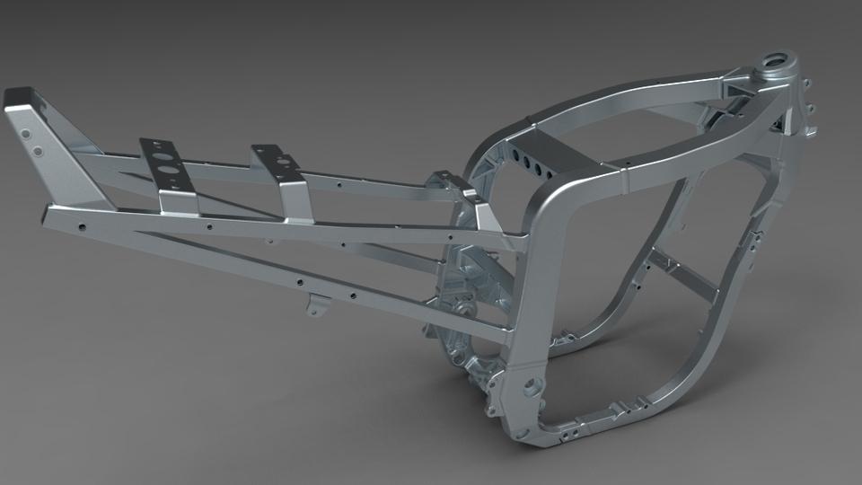 frame 1100 gsxr 91/92 | 3D CAD Model Library | GrabCAD
