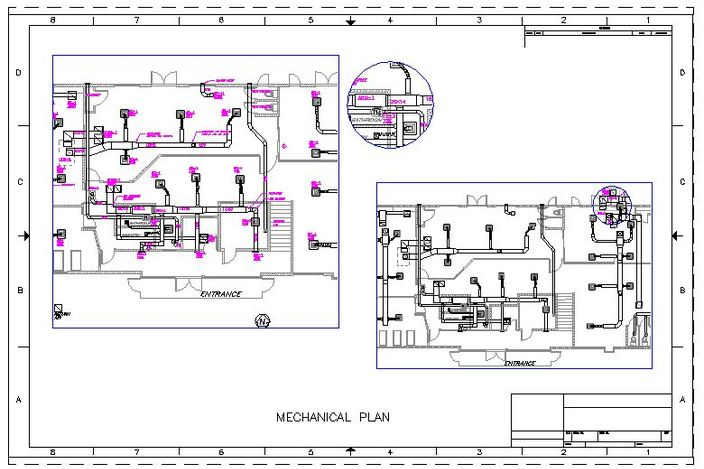 mechanical floor plan other autocad 3d cad model autocad hvac drafting samples