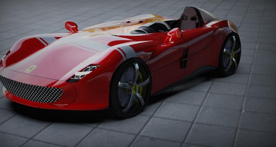 Ferrari Monza Car Single Seater 3d Cad Model Library Grabcad