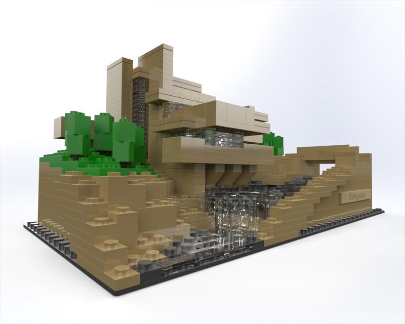Waterfall House Frank Lloyd Wright Lego Famous Waterfall 2018