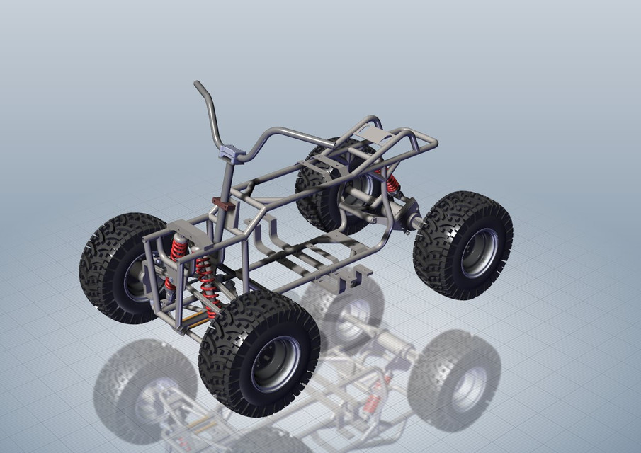 Quad Bike Chassis 3d Cad Model Library Grabcad