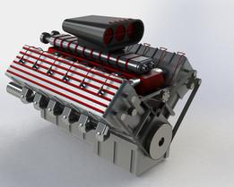 Supercharged V12 Engine