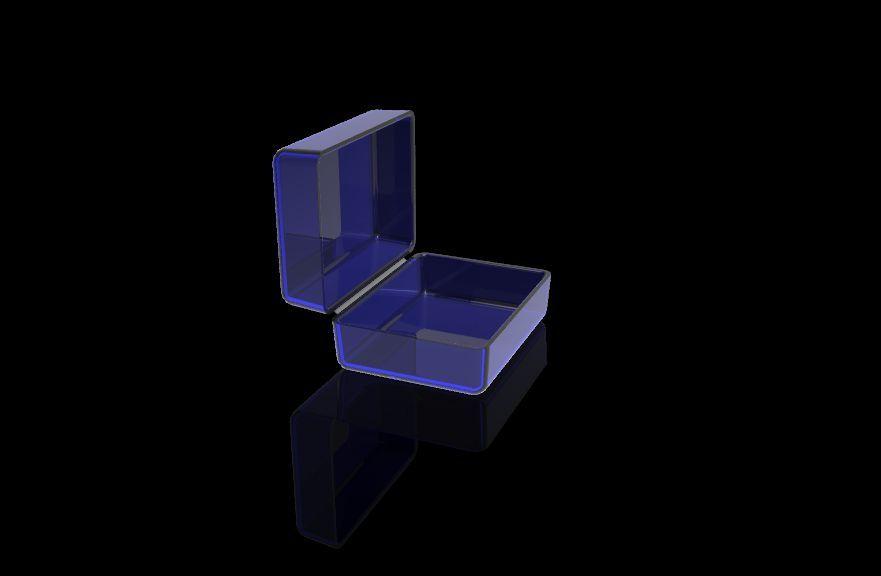 plastic living hinge 3d cad model library grabcad