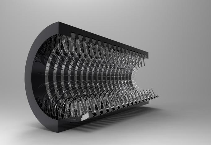 Axial Flow Compressor : Axial flow compressor casing solidworks d cad model