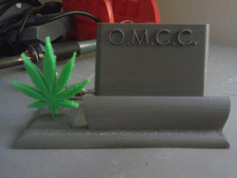 O.M.C.C. Card base with leaf seperate