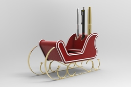 Christmas Pen holder sledge