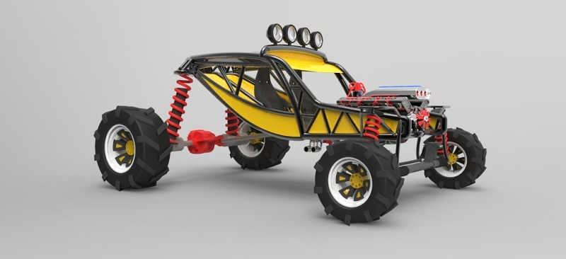 Dune Buggy | 3D CAD Model Library | GrabCAD