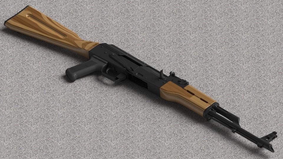 AK-47 Laminated Stock | 3D CAD Model Library | GrabCAD