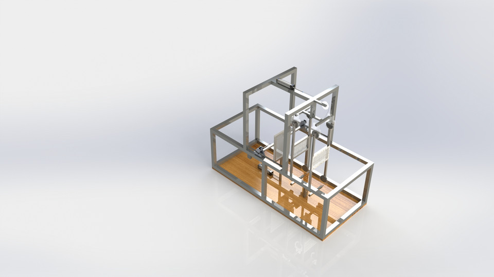 Automatic Pneumatic Mechanical Loom Machine | 3D CAD