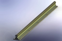 SBR16 rail 640mm (Fully supported cylindric guide for linear sliding)