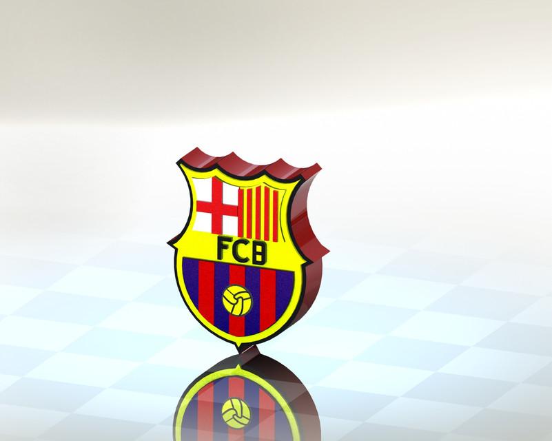 Fc Barcelona Logo 3d Cad Model Library Grabcad